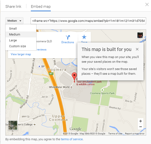 what is a wordpress widget map
