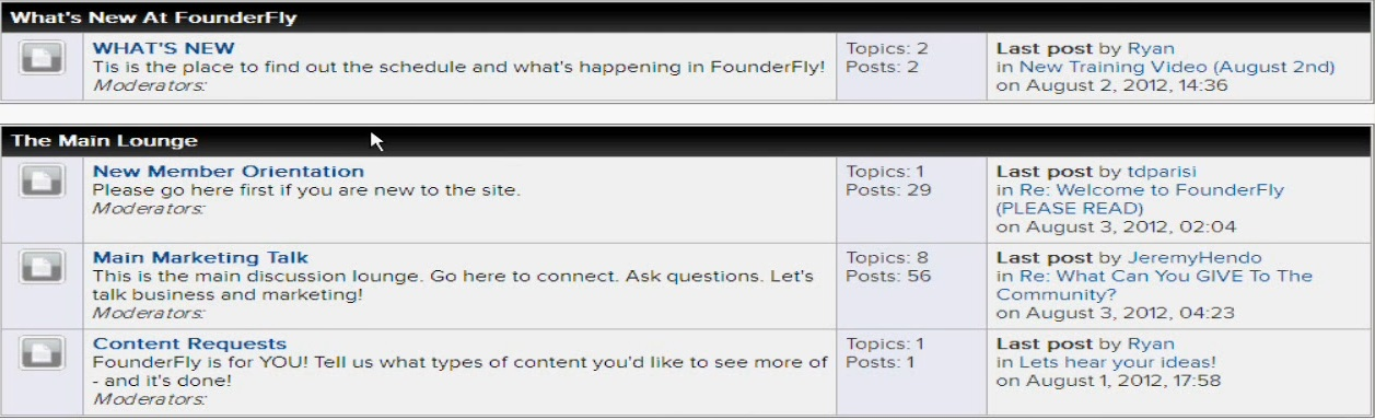 what is founder fly forum